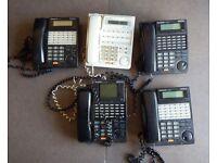 Job lot of 5 Panasonic KX-T series digital super hybrid telephones at low price