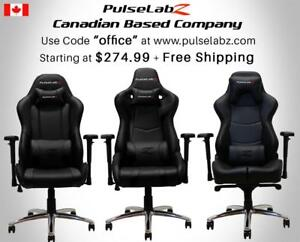 "Pulselabz Gaming Office Chairs l Canadian Company l Starting at $274.99 + Free Shipping | Use code ""office"""