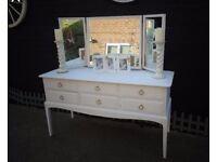 STAG DRESSER WHITE WITH MIRRORS... GOOD CONDITION