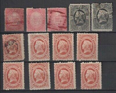 Guatemala 1871-1875 MH / MNH / Used / No Gum Sc #4, 7, 10 (8)