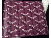 Goyard Purple leather folded wallet Purple leather Lining