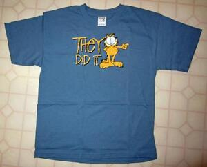 NEW - Garfield 'They Did It' T-shirt