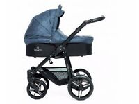 Venicci denim blue travel system