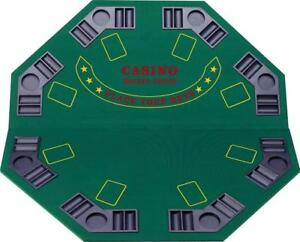 Blackjack/Poker Game Table Top 48 - 4 Folds for easy storage - Ship accross Canada