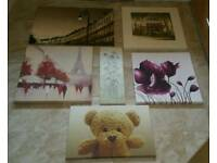 VARIETY OF 12 CANVASES