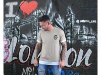 LC T-Shirt – Camel/White