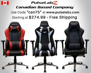 Pulselabz Gaming Chairs l Canadian Company l Starting at $274.99 + Free Shipping +10 Year Warranty | Use code summer75