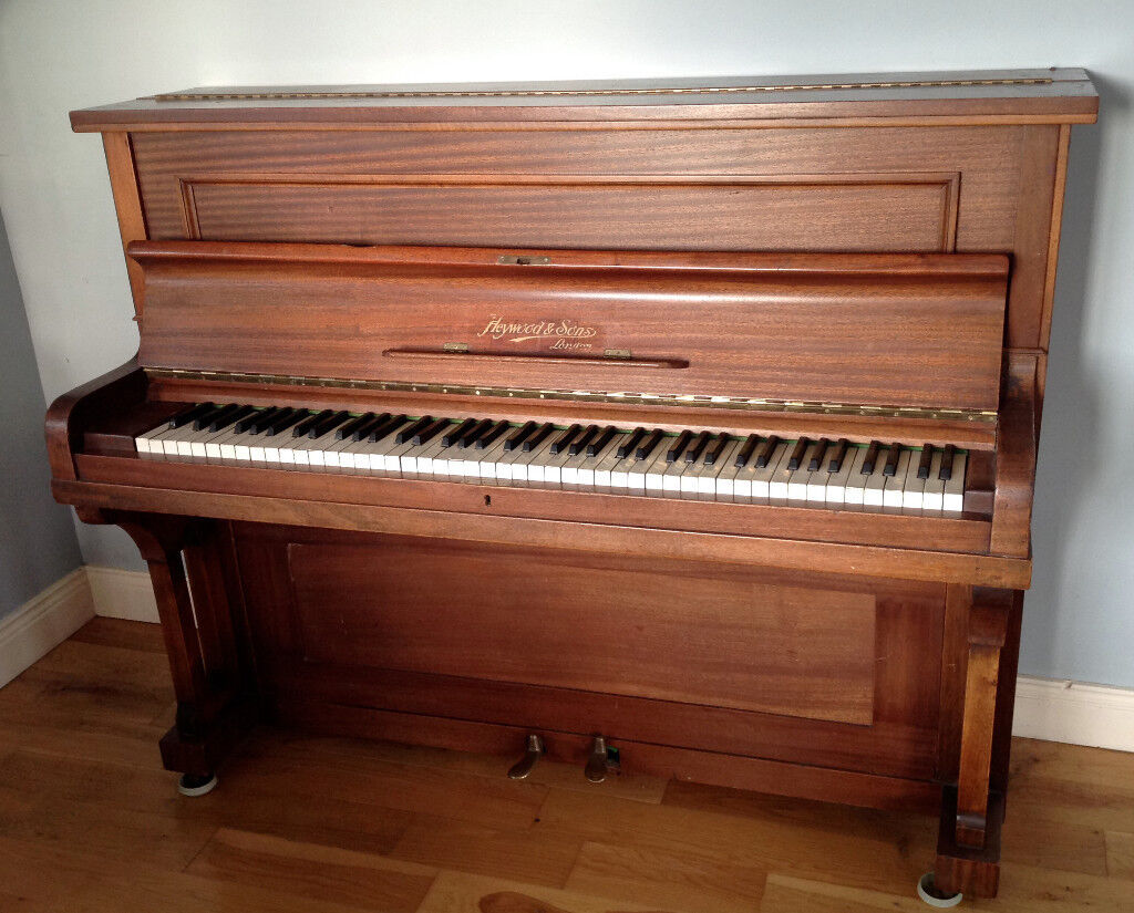 Tuned, handsome, vintage, upright piano