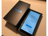 Samsung Galaxy Note 8 128GB Dual Sim / Black / As New / With Case & Protector. Unlocked!