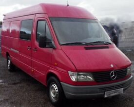 LEFT HAND DRIVE Mercedes sprinter 312d extra long with 6 seat YEAR 2000, sold with nova certificate