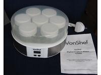 VonShef Digital Yoghurt Maker with Instructions. NEW.