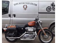 STUNNING 2000 HARLEY DAVIDSON 883 TO XL1200 STAGE 1 TUNE, V.LOW MILEAGE, SOLO SEAT FORWARD CONTROLS
