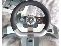 Xbox 360 wireless racing wheel and pedals