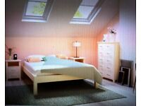 Small double bed with a mattress_ Good condition