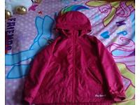 Girls Peter storm jacket aged 5-6