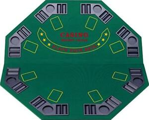 Fat Cat Folding Blackjack/Poker Game Table Top: Octagon Layout, 8 Player