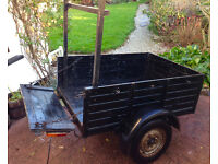 """cool vintage """"HARDY"""" trailer 3ft6'' x 5ft easy tow, reliable"""
