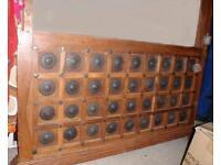 Indian hardwood bed headboard