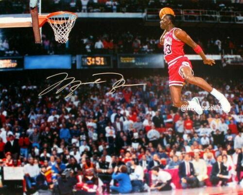 Michael Jordan Autographed Signed 8x10 Photo Auto Reprint NBA Dunking Jumping
