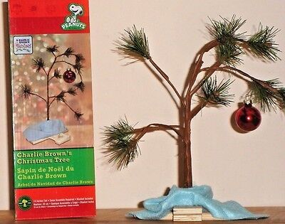 """Peanuts CHARLIE BROWN'S CHRISTMAS TREE + Blanket & Stand~Non-Musical~Classic 14"""""""