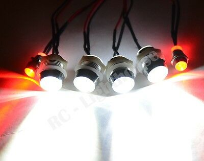 LED Lights for your RC Car or truck Universal- Works with Traxxas, HPI 4WL/2R5mm