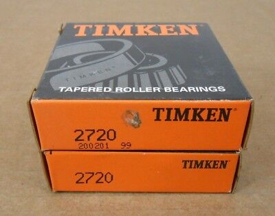 Lot Of 2 Nib Timken 2720 Tapered Roller Bearing Cup 3 Od X 0.75 Width 5 Aval
