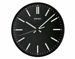 Seiko Luminous Contemporary Black Dial Wall Clock QXA521JLH