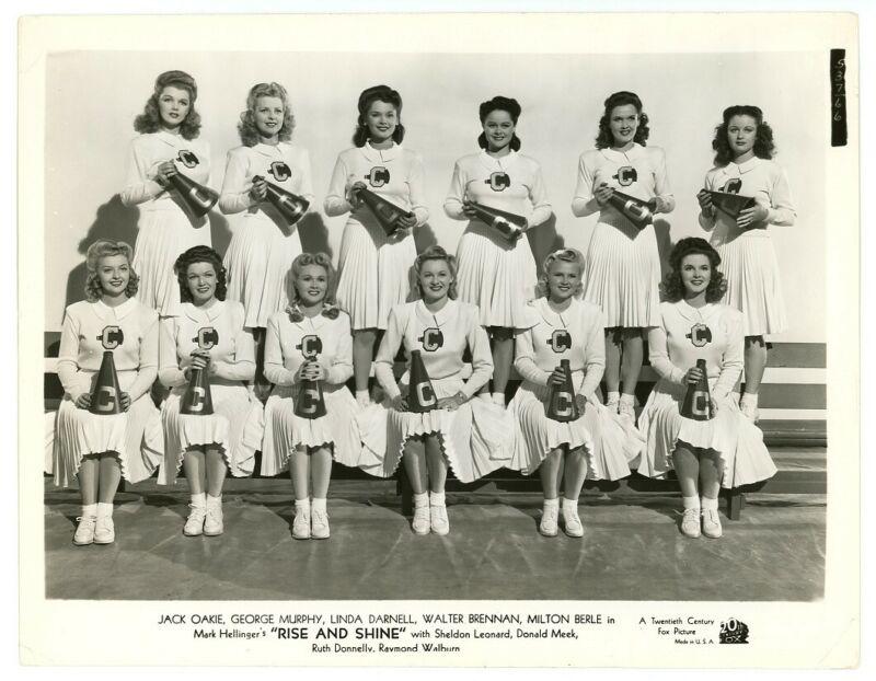 1941 RISE AND SHINE original movie photo CHEERLEADERS