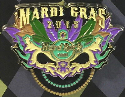 Beads Online (Hard Rock Cafe ONLINE 2015 MARDI GRAS PIN Jester Party 3-D MASK Beads HRC)