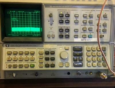 Hp 8568a Spectrum Analyzer 100hz-1.5 Ghz W Display And Rear Interconnect Cables