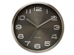 Karlsson Maxie Wall Clock Black Designer Contemporary Modern Stylish Timepiece