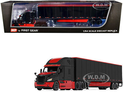 2018 FREIGHTLINER CASCADIA & WABASH TRAILER BLACK 1/64 BY DCP/FIRST GEAR 60-0756