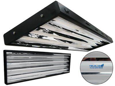 Yield Lab 54w T5 Four Bulb Fluorescent Grow Light Panel  –