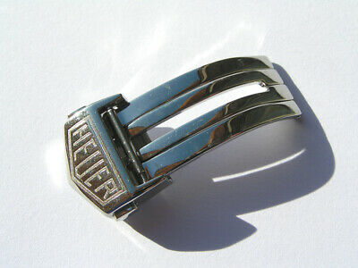 HEUER 16mm Faltschliesse Stahl buckle Steel HEUER FC5012 I598