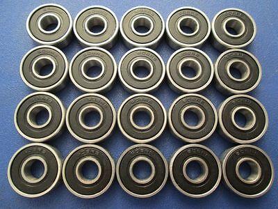 20 Stück 608 2RS (8x22x7 mm) Kugellager, Miniaturkugellager