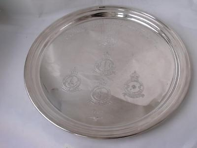Solid Sterling Silver Drinks Tray Salver 1980/ Dia 27.6 cm/ 615 g