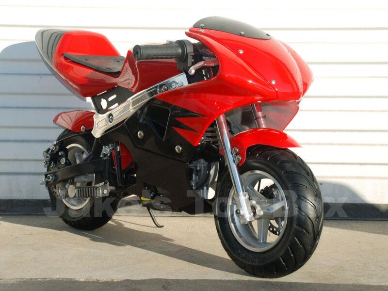 40cc Gas Mini Pocket Rocket ninja mini bike for kids - Red