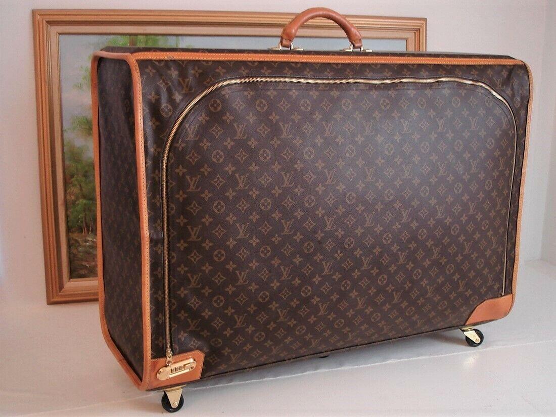 Louis Vuitton Authentic Luggage Travel Bag Rolling Case Garment Bag Suitcase - $1,365.00