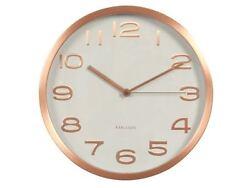 Karlsson Maxie Wall Clock White Copper Designer Modern Stylish Timepiece