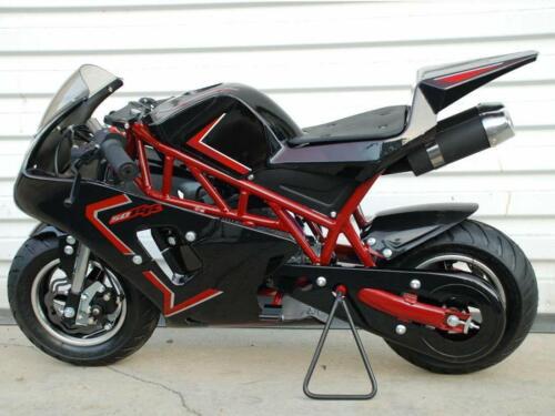 Mini Pocket Rocket Bike Gas Powered 49cc kids mini motorcycle dual exhaust