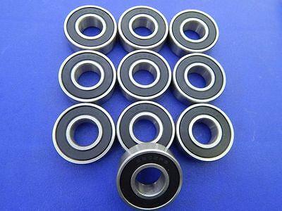 10 Stück 6202 2RS (15x35x11 mm) Kugellager, Rillenkugellager