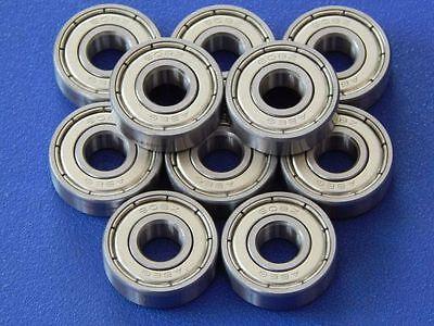 10 Stück 608 ZZ (2Z) (8x22x7 mm) Kugellager, Miniaturkugellager