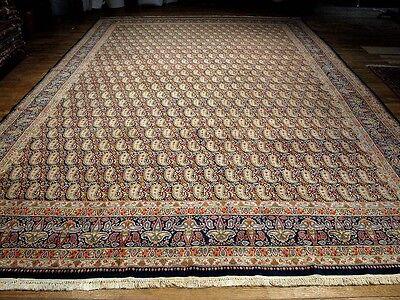 16ft Persian Rug - Semi Antique Fine Persian Kerman Carpet 12 ft X 16 ft
