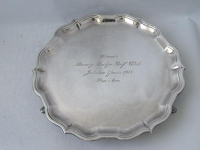 Solid Sterling Silver Salver/ Tray 1976/ Dia 14.8 cm/ 165 g