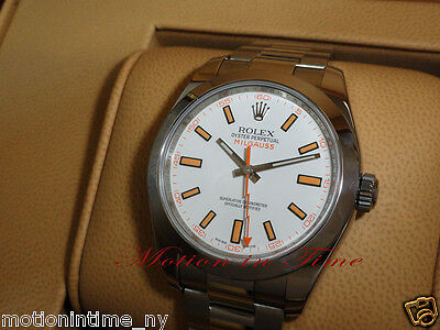 Rolex 116400 Milgauss Stainless Steel w/ White Dial 40mm Latest Model Large