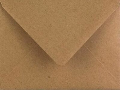 C7 Kraft Envelopes 25 Pack Small Recycled Gummed Flap 82mm x 113mm by Cranberry