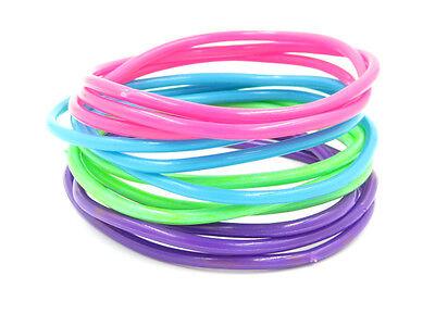 New High Quality 24 Piece Pastel Colored Jelly Bracelet Set #B1009-24