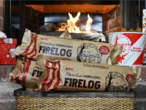 ONE (1) LIMITED EDITION 11 - 2020 KFC USA Herbs & Spices Firelog by Enviro-Log®!