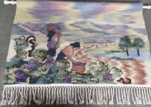 South African Hand Woven Mohair Tapestry