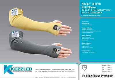 Kezzled Cut Resistant Sleeve Protection 18 Inches Contains Dupont And Kevlar